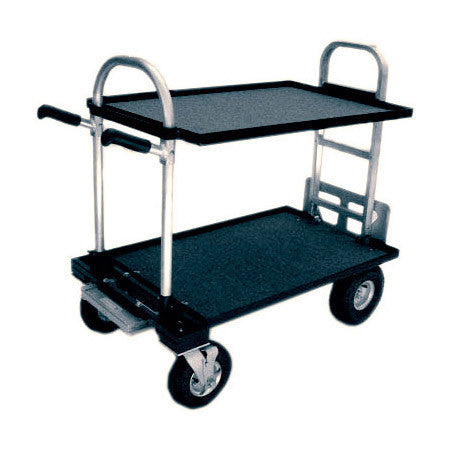 A high quality Image of Magliner Junior Cart Modified with 8 Inch Wheels Top and Bottom Shelf