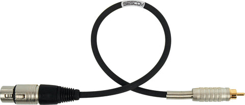 Belden Star-Quad Audio Cable XLR Female to RCA Male 1.5FT (Multiple Colors)