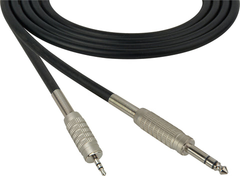 "Belden Star-Quad Audio Cable 1/4"" TRS Male to 3.5mm TRS Male 1.5FT (Multiple Colors)"