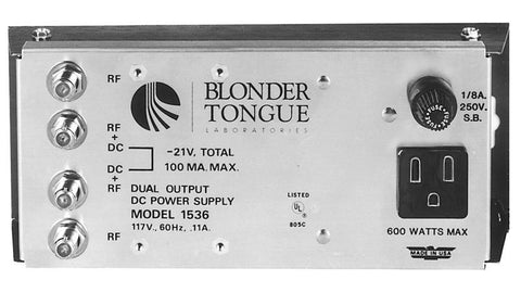 Blonder Tongue PS-1536 Power Supply Dual Output -21 VDC At 100 mA