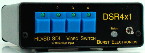 Burst DSR4X1 HD/SD SDI 4x1 Reclocking Video Switcher with Keyboard Extension