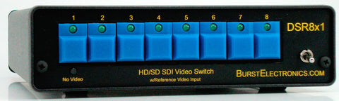 Burst DSR8X1R HD/SD SDI 8x1 Reclocking Video Switcher with RS232