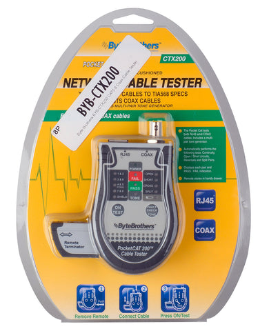 Byte Brothers BYB-CTX200 CAT5 6 Coax Cable Tester
