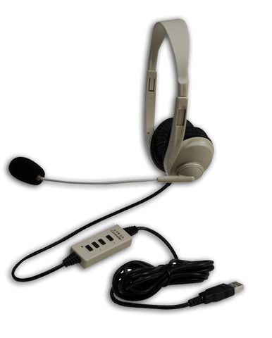 Califone 3064-USB Lightweight 25ohm Stereo Headset With USB Connector