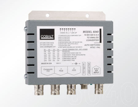 Cobalt 6040 SDI to Analog Comp with Y/C or Analog Component Encoder with Pwr Supply