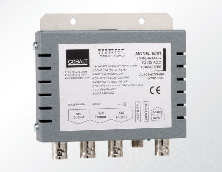 Cobalt 6081 A/D Analog Composite to 10-bit SDI Converter - Includes Power Supply