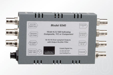 Cobalt 6540 D/A 10-bit SDI Analog Comp Y/C & Component with Pwr Supply