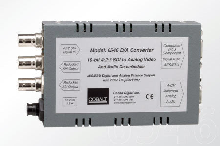 Cobalt 6546 D/A 10-bit SDI to Analog Converter - Includes Power Supply