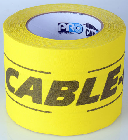 A high quality Image of 4Inx30yd Yellow/Black Cable-Path Tape