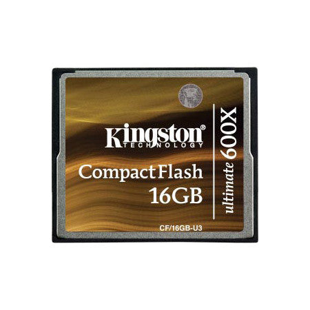 Kingston CF/16GB-U3 16GB CompactFlash Card Ultimate 600x with Recovery