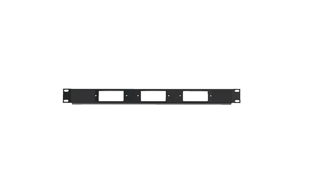 Chief DCR-1X3 1U Rack Panel for 3 Decora Devices