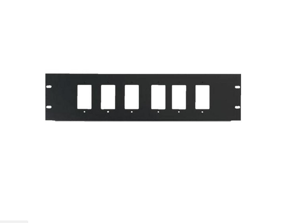 Chief DCR-3X6 3U Rack Panel for 6 Decora Devices