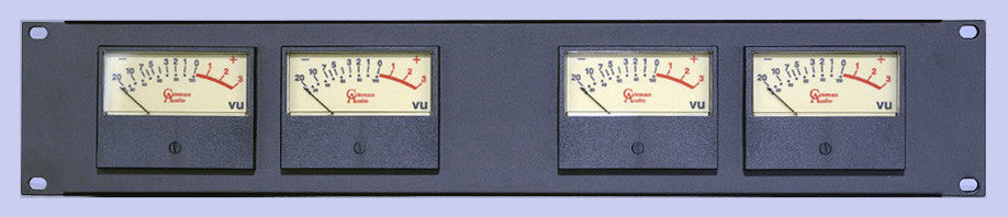 A high quality Image of Coleman Audio MBP4 Quad Rack Audio VU Meter System for Balanced XLR Audio