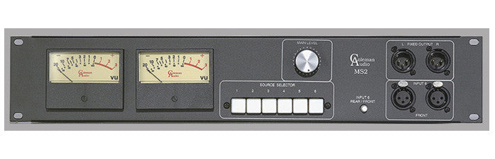 Coleman Audio MSP2V Stereo VU Meter with Source Switcher