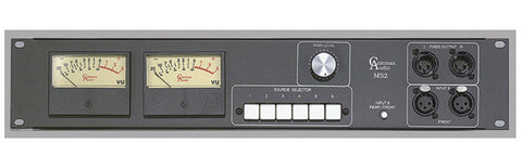A high quality Image of Coleman Audio MSP2V Stereo VU Meter with Source Switcher