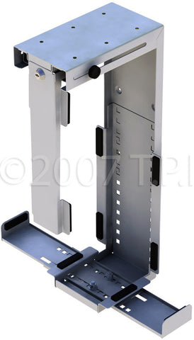 Penn Elcom Side or Under Desk Mount Locking CPU Holder Black