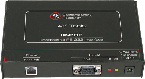 Contemporary Research IP-232 Ethernet to RS-232 Interface
