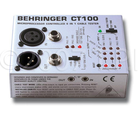 Behringer CT100 3-Mode Microprocessor Controlled Cable Tester