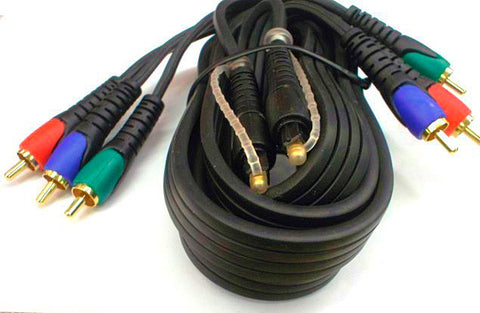 Component Video 3RCA-3RCA Cable With toslink Fiber Optic Audio 6FT