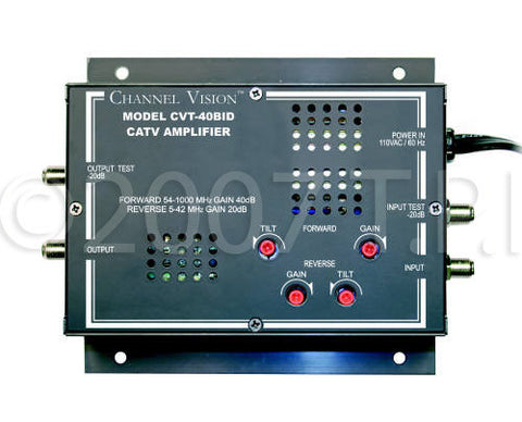 Vancura Innovations Channel Vision 1x1 38dB Bi-directional Amplifier