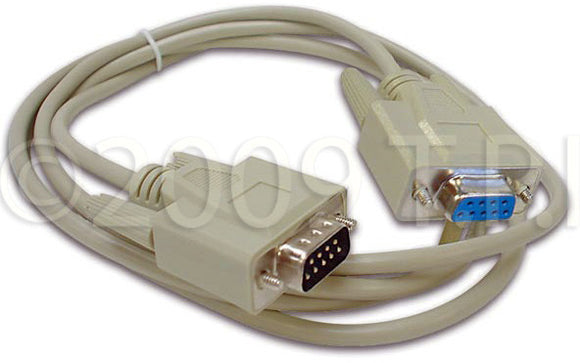 Serial Cable SUBD9 Male to SUBD9 Female 2-Meters