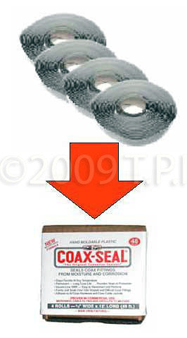 A high quality Image of Coax-Seal 4 pack .5in x 12ft Rolls