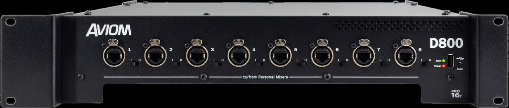 Aviom D800 A-Net distributor with A-Net bridge input