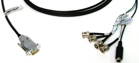 A high quality Image of 9-Pin Male to 4-BNC and SVHS Cable 7FT