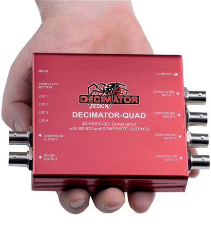 Decimator QUAD 3G/HD/SD Quad Split Multiviewer w/ CVBS and SD-SDI outputs