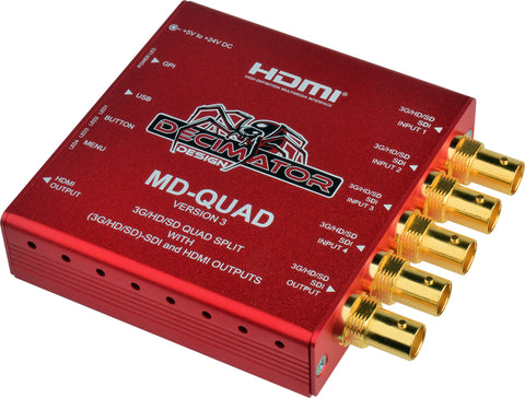 Decimator MD-QUAD Miniature (3G/HD/SD) QUAD SPLIT with HDMI