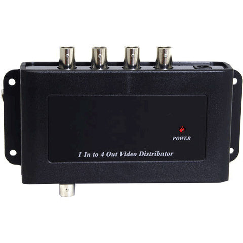 A high quality Image of 1x4 Composite Video Distribution Amplifier with BNC Connectors