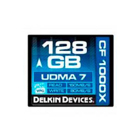 A high quality Image of Delkin DDCF1050-128GB 128GB CF1050X Cinema CompactFlash Memory Card
