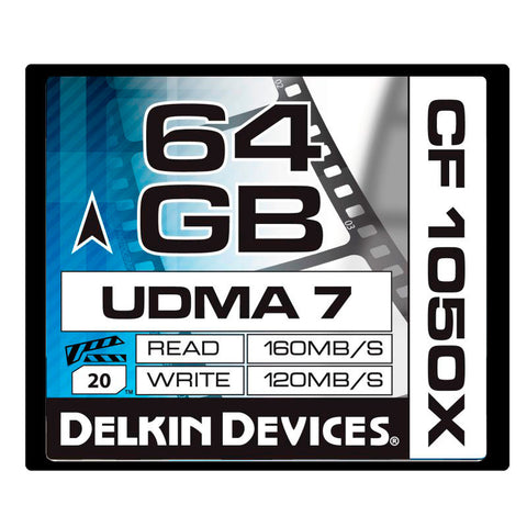 A high quality Image of Delkin DDCF1050-64GB 64GB CF1050X Cinema CompactFlash Memory Card