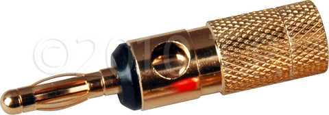 Gold Banana Plug Screw Type