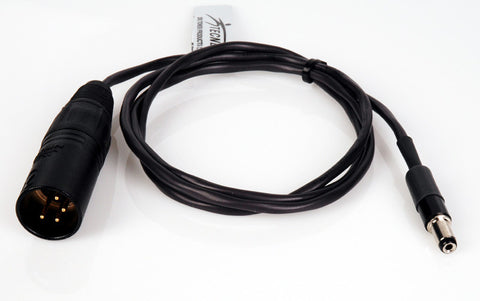 Delvcam Power Cable 4-Pin XLR Male to 2.1mm Plug 3 Foot