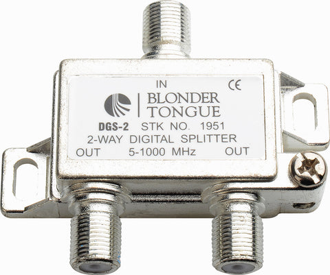A high quality Image of Blonder Tongue DGS-2 Digital Ready 5-1000 MHz 2-Way F Splitter