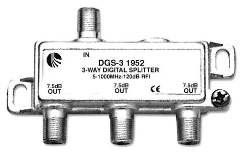 A high quality Image of Blonder Tongue DGS-3 Digital Ready 5-1000 MHz 3-Way F Splitter