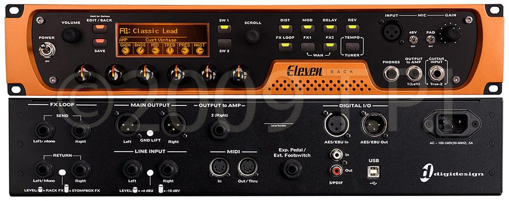 Avid Eleven Rack FX Processor & Guitar Amp Processor with Pro Tools