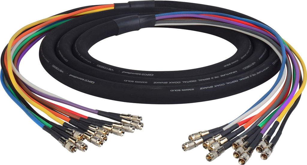 3G/HD-SDI Gepco VS10230 10-Channel DIN1.0/2.3 Video Snake Cable 3FT