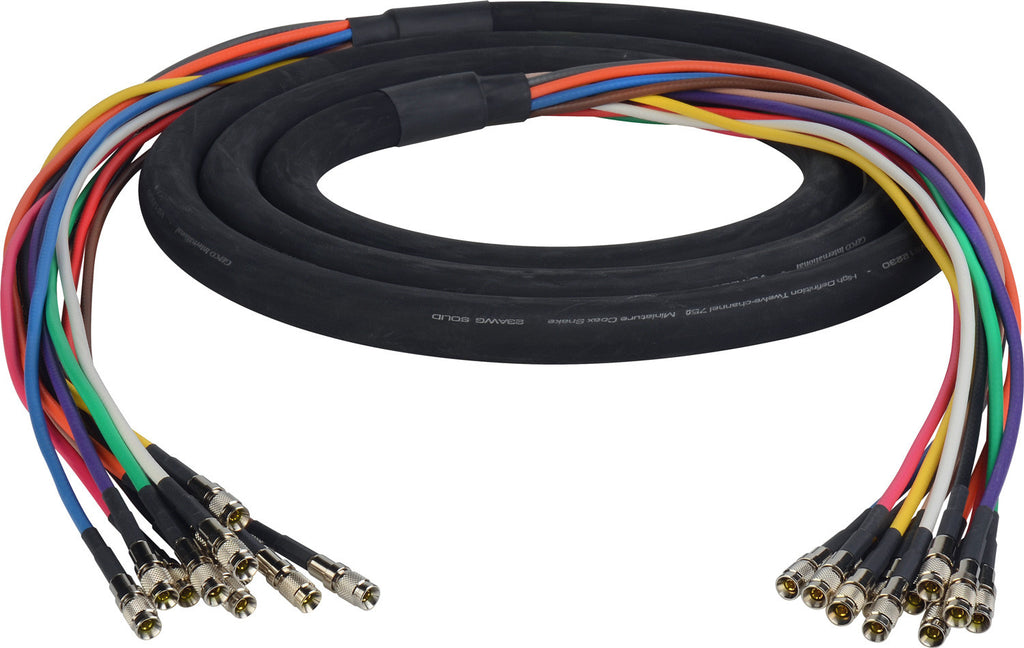 3G/HD-SDI Gepco VS12230 12-Channel DIN1.0/2.3 Video Snake Cable 35FT