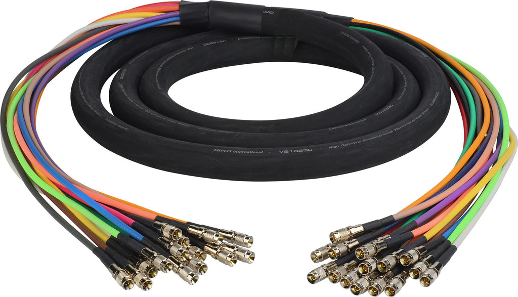 3G/HD-SDI Gepco VS16230 16-Channel DIN1.0/2.3 Video Snake Cable 5FT
