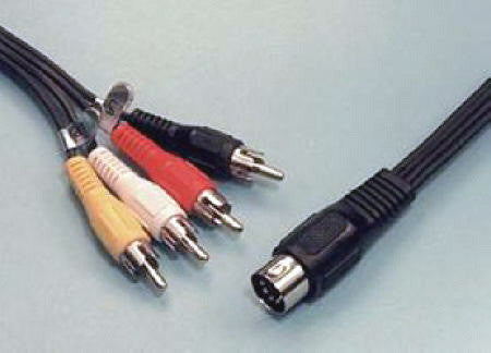 5-pin DIN to 4 RCA plugs 5FT