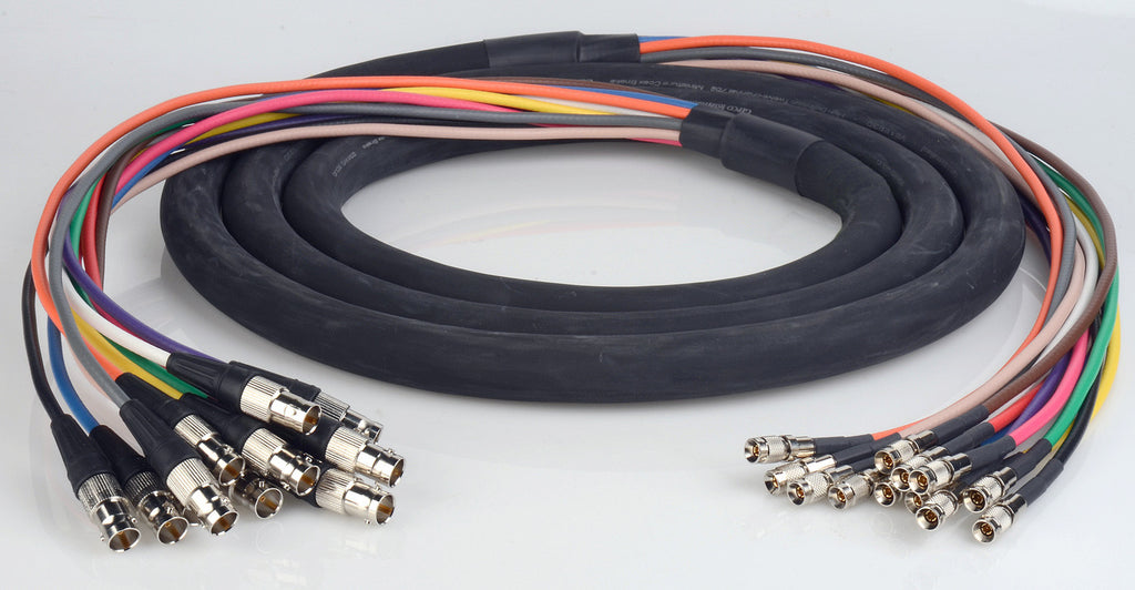 3G/HD-SDI Gepco VS12230 12-Channel DIN1.0/2.3 to BNC Female Video Adapter Snake Cable 15FT