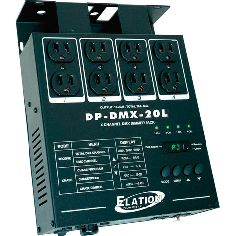 A high quality Image of American DJ DP-DMX20L 4 Channel DMX Dimmer Pack