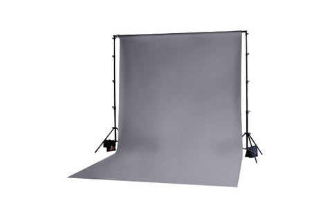 Photoflex DP-MCK003A 10ft x 12ft Grey Solid Muslin BackDrop
