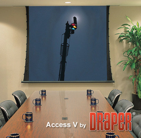 Draper 102184L Access/Series V 133 Inch HDTV M1300 110 V with Low Voltage Controller