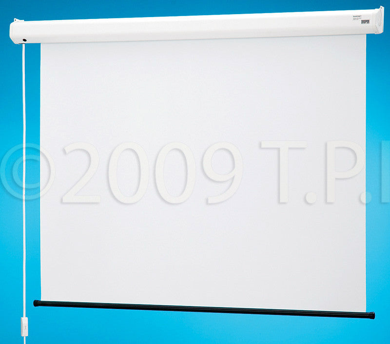 Draper 129003 Baronet 70x70 Matte White Motorized Wall Screen