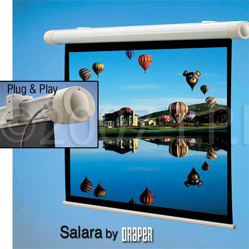 Draper 132009 Salara NTSC Matte White 69x92 Motorized Wall Screen
