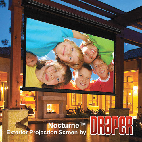 Draper 138003 Nocturne 16:9 HDTV Electric Projection Screen - 73 Inch - M White