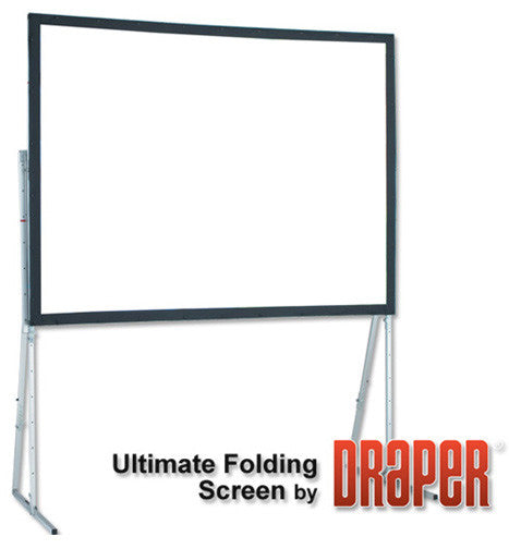 Draper 241074 Ultimate Folding Screen Complete with Standard Legs 10FT NTSC Rear Cineflex